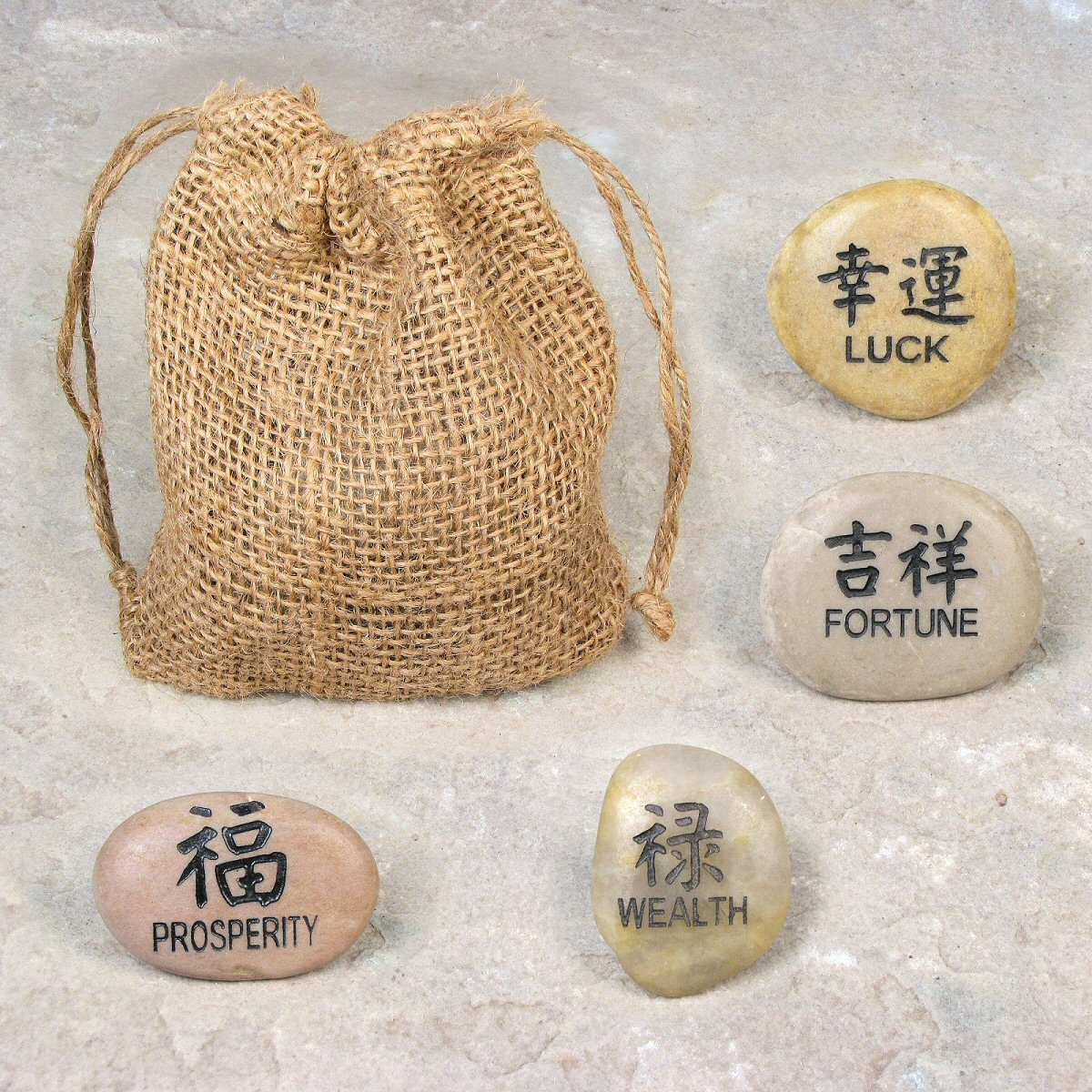 Amazon Eves Happiness Dream Stone Kanji Stone Set