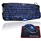 havit rainbow backlit wired gaming keyboard mouse combo black computers accessories. Black Bedroom Furniture Sets. Home Design Ideas