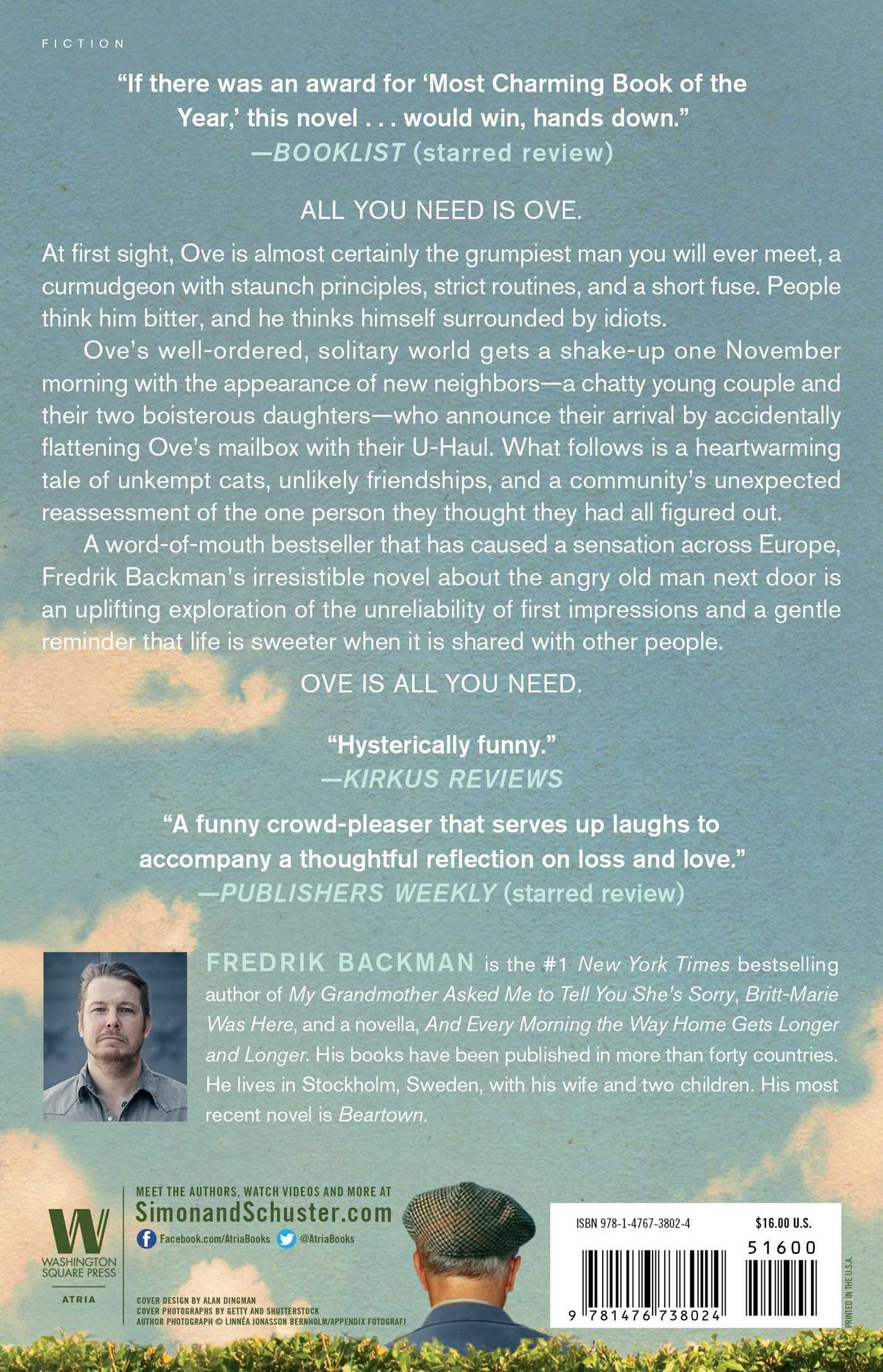 Amazon: A Man Called Ove: A Novel (9781476738024): Fredrik Backman:  Books