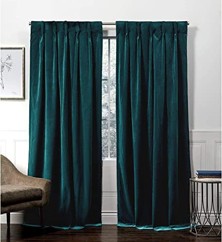 Exclusive Home Curtains Velvet Pinch Pleat Curtain Panel - the best window curtain panel for the money