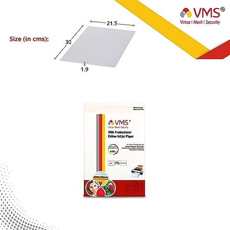 VMS Professional Colour Inkjet Paper Matte Inkjet Photo Paper A4  210 x 297 mm  130 GSM  100 Sheets  Photo Paper