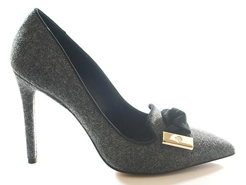 1fcc92ae7379 Mulberry Kensington Shoes Slipper Black Grey MARL Size UK 4 EU 37RRP £350   Amazon.co.uk  Shoes   Bags