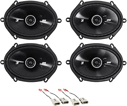 Amazon Com Kicker 6x8 Front Rear Factory Speaker Replacement Kit For 1999 2003 Ford F 150 Car Electronics