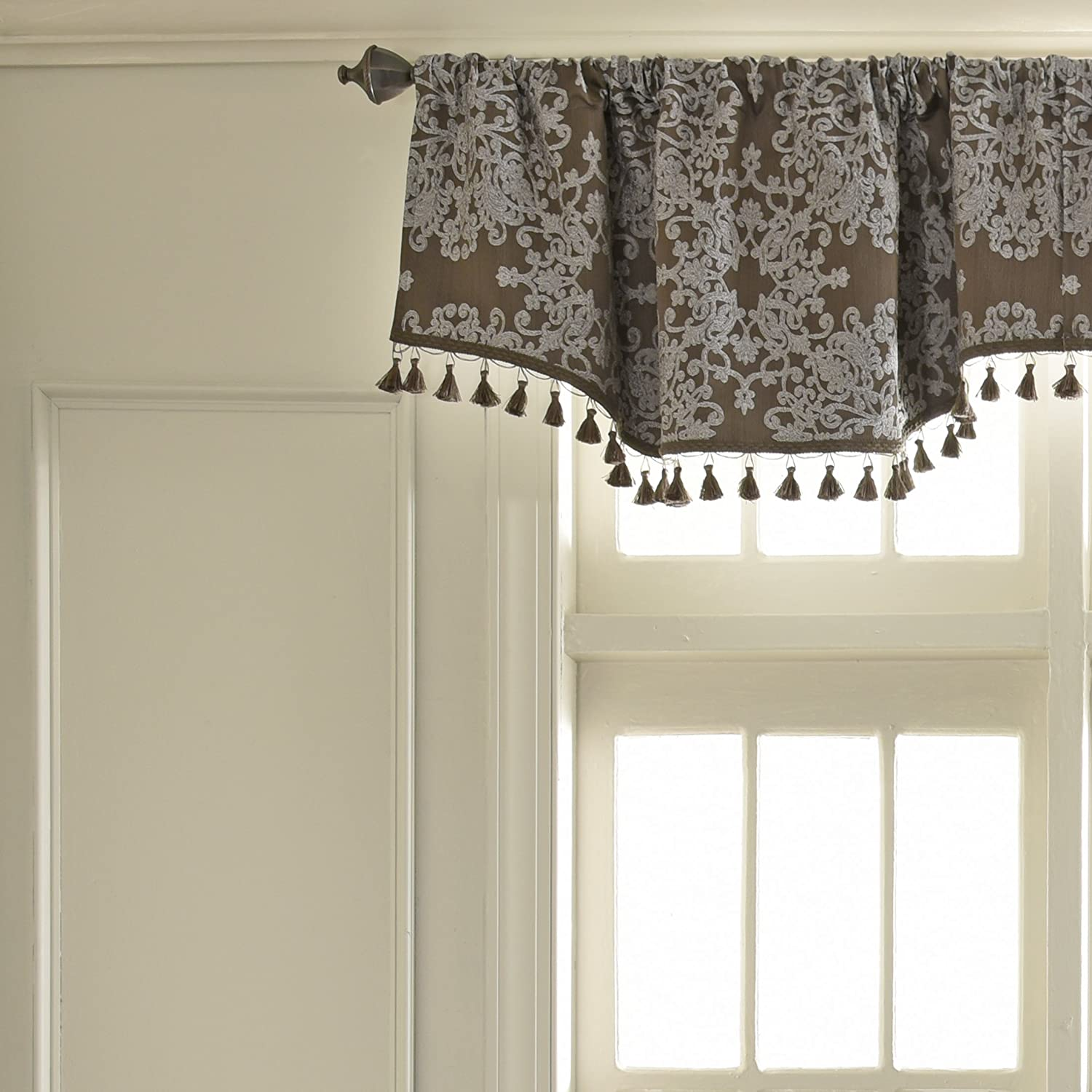 Peacock 48 x 18 Beautyrest Alexina Jacquard Grommet Top Curtains for Kitchen and Living Room