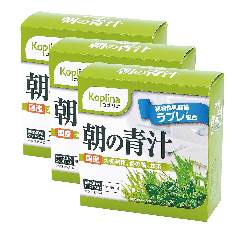 朝の青汁 植物性乳酸菌ラブレ配合 宇治抹茶使用 3個組 30包×3箱(粉末タイプ) B010SDLN8G