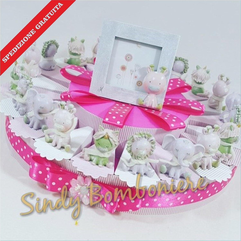 Bomboniere Cake Rack Confetti Assorted Animals Dispatch Included Birth Christening Birthday Girl Torta da 20 fette