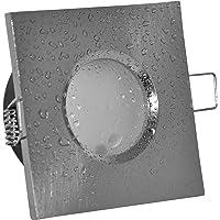 Foco empotrable para baño IP65cuadrado (sin bombilla), color