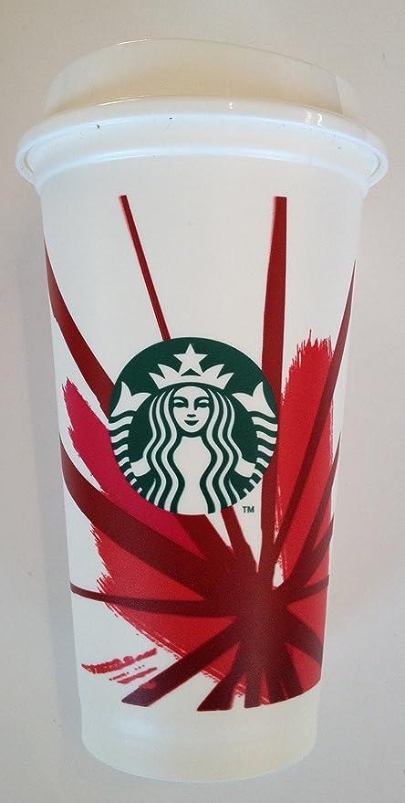 Amazon Com Starbucks Reusable Coffee To Go Cup Red Grande 16 Oz