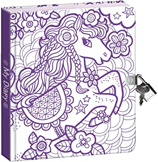 Peaceable Kingdom Pretty Pony Color In Shiny Foil Cover 625 Lock And Key