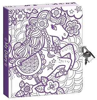 Peaceable Kingdom Colore-In Bel Pony Un Foglio Lucido Coprire 6,25 Serratura E Chiave, Foderato Pagina Di Diario Per I Bambini