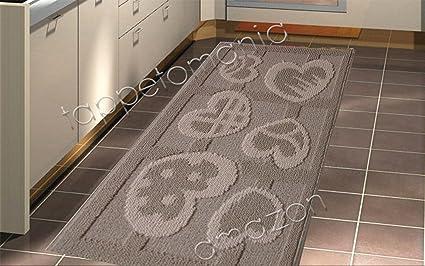 emmevi tappeto cucina assolutamente originale beige grigio cm 50 x 115 beige