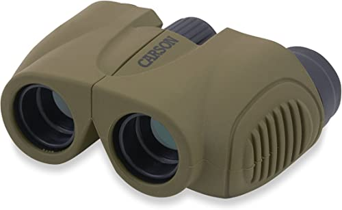 Carson Hornet 8x22mm Lightweight and Compact Binoculars for Bird Watching, Sight Seeing, Surveillance, Safaris, Concerts, Sporting Events, Hiking, Camping,Travel and Hunting Adventures HT-822