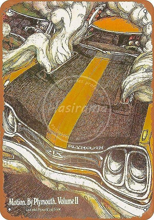 Plymouth Car Road Póster De Pared Metal Retro Placa Cartel ...
