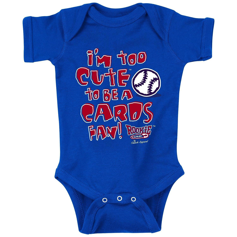 Amazon Chicago Cubs Fans I m Too Cute Blue esie NB 18M