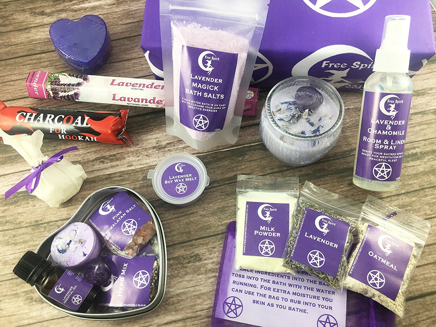 Lavender Magick Gift Box - Witches Gift and spell kit - Free