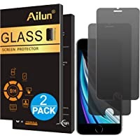 Ailun Privacy Tempered Glass Screen Protector for Apple iPhone SE 2020 2nd Generation, 2PackTempered Glass 0.33mm, Anti-Scratch Case Friendly