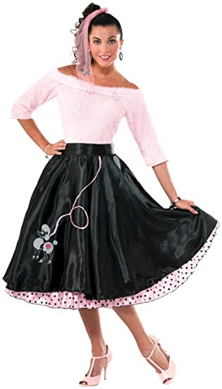 1950s Costumes- Poodle Skirts, Grease, Monroe, Pin Up, I Love Lucy Forum Novelties Womens 50s Poodle Skirt Black $24.47 AT vintagedancer.com