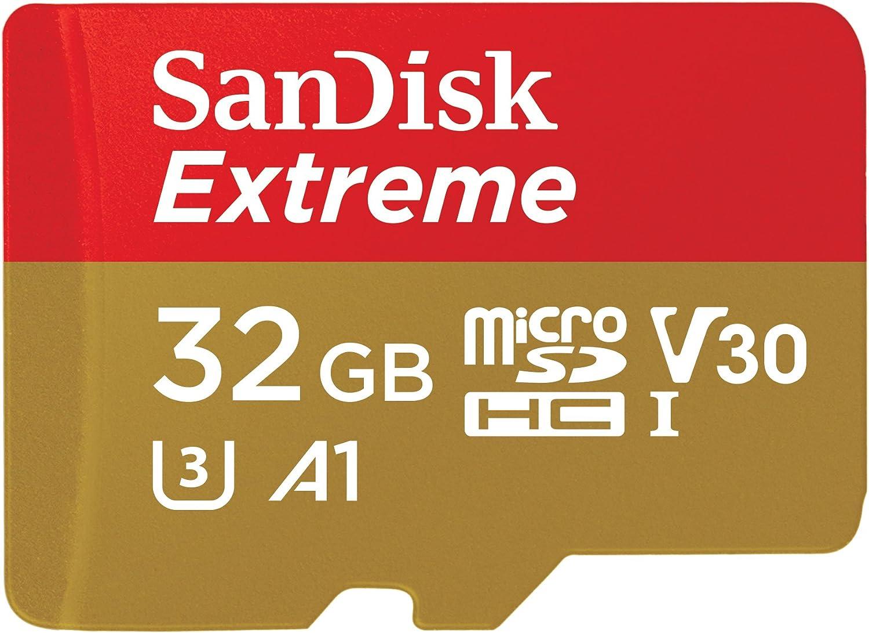 Cámara De Acción SanDisk Extreme PRO 32GB A1 V30 Tarjeta microSDHC UHS-I U3 Para 4K