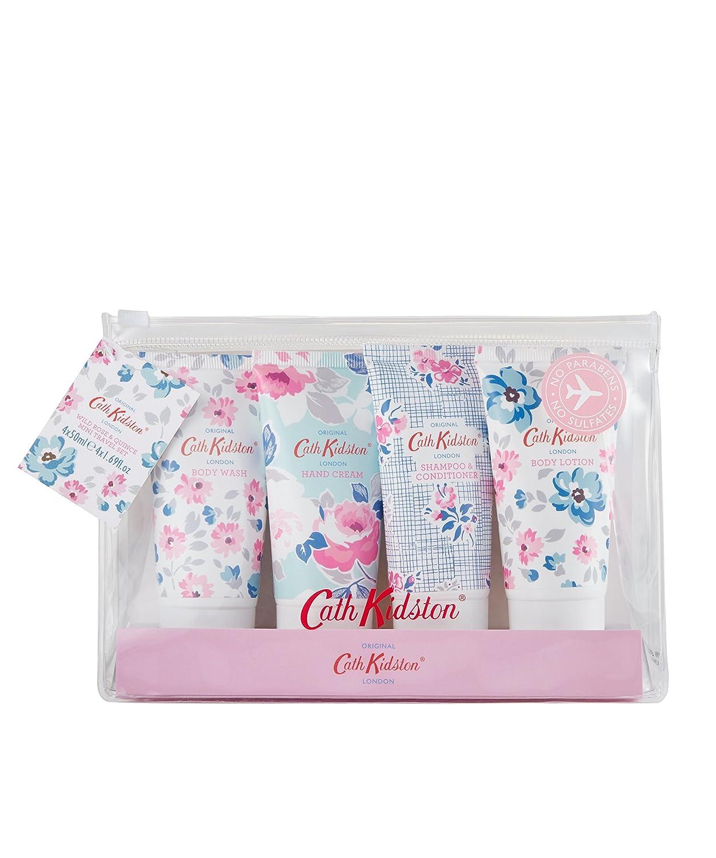 Cath Kidston Wild rose & Quince mano crema/lozione per il corpo/doccia/shampoo mini set da viaggio Heathcote & Ivory FG7118