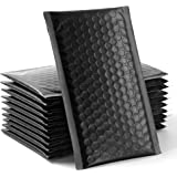 60 pcs Upgraded Poly Bubble Mailers Usable Size 4x8 Inch Padded Envelopes Bubble Lined Poly Mailer Self Seal Black…