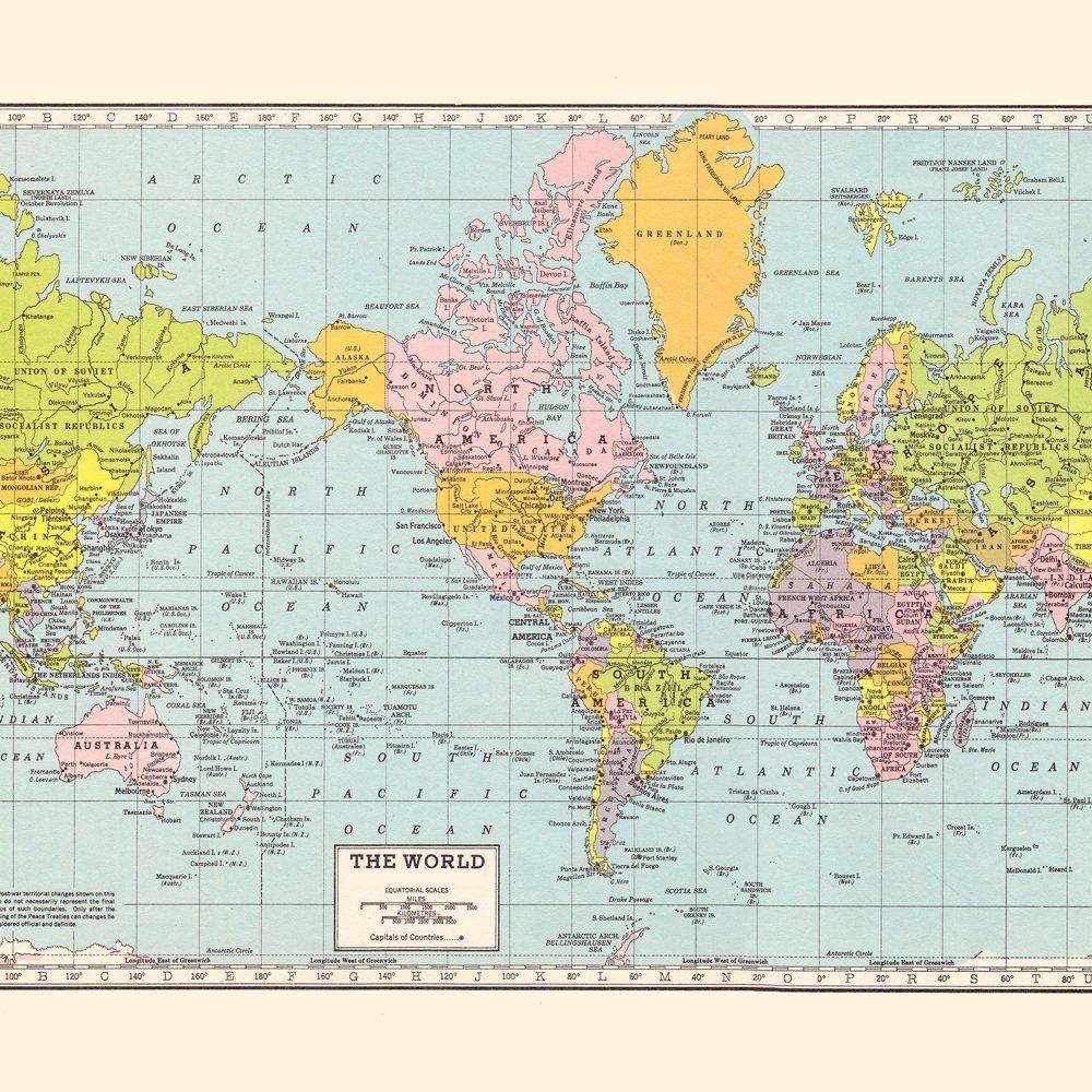 Amazoncom World Map Shower Curtain Handmade