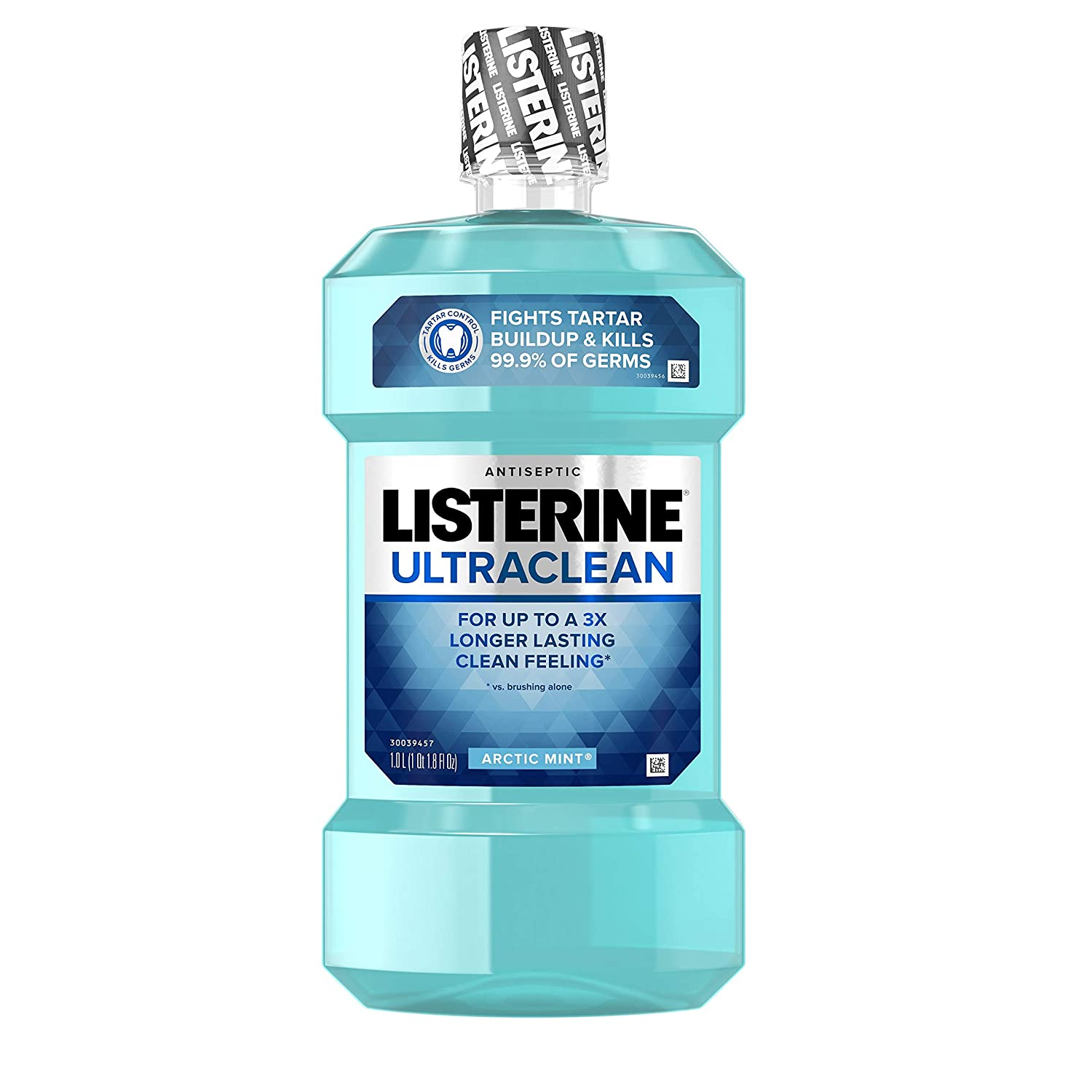 Listerine Ultraclean Oral Care Antiseptic Mouthwash to Help Fight Bad Breath Germs, Gingivitis, Plaque and Tartar, Oral Rinse for Healthy Gums & Fresh Breath, Artic Mist Flavor, 1 L : Beauty