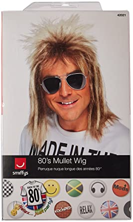 Amazon smiffys mens 80s blonde mullet wig one size smiffys mens 80s blonde mullet wig one size 5020570420218 publicscrutiny Gallery