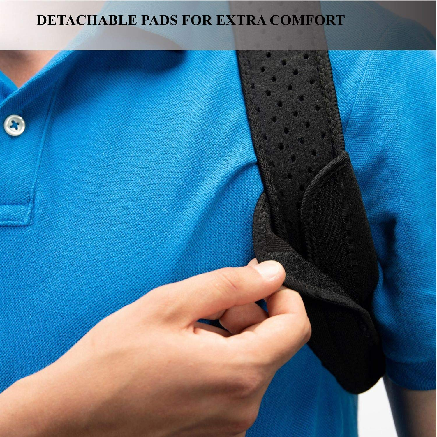 Back Posture Corrector for Women and Men-Breathable and Comfortable Clavicle Brace for Improving Posture-Adjustable and Discreet Clavicle Support Brace for Slouching & Hunching by Roxattract (Image #4)