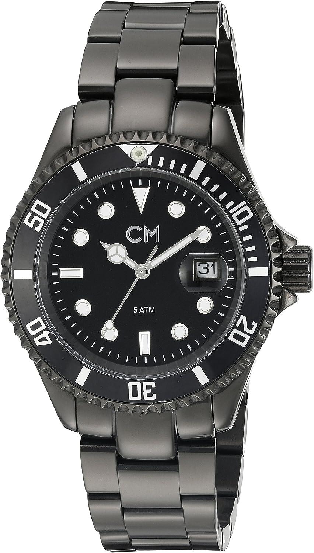 Carlo Monti Varese CM507-622 - Reloj analógico de cuarzo para hombre, correa de acero inoxidable chapado color negro
