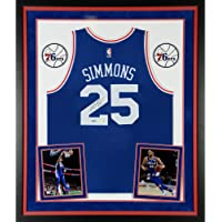 $1249 » Ben Simmons Philadelphia 76ers Deluxe Framed Autographed Blue Jersey - Upper Deck - Fanatics Authentic Certified