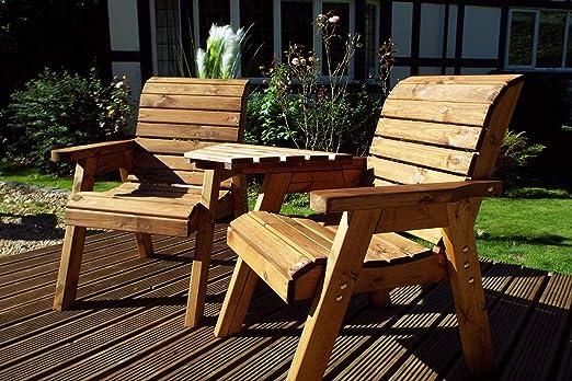 Home Gift Garden - Asiento Doble para acompañante de jardín – Sofá de Dos plazas – Tete a Tete Seats – Muebles de Madera Maciza para terraza al Aire Libre: Amazon.es: Jardín