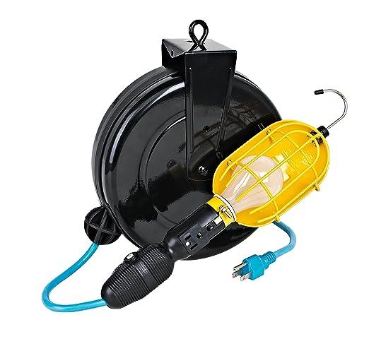 Professional incandescent retractable cord reel work light circuit professional incandescent retractable cord reel work light circuit breaker publicscrutiny Gallery