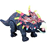 Walking Dinosaur Toy TG636 ? Triceratops Toy For Boys And Girls Over 3 Years Old - Dinosaur With Awesome Roar Sounds Lights & Movement - By ThinkGizmos (Trademark Protected)