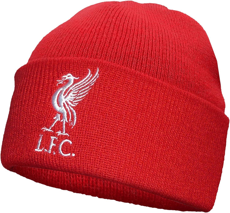 Gorro de punto con el logo Liverbird del club de fútbol Liverpool ...