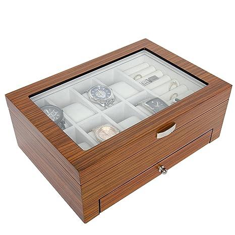 Amazon.com: Arolly - Estuche organizador de madera para ...