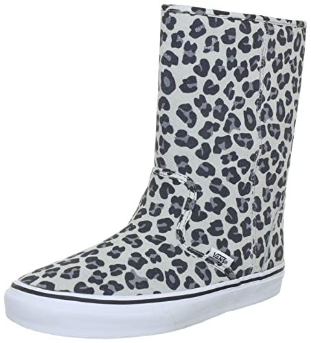 Vans Slip-On Boot Boots Unisex-Adult Gray Grau ((Leopard Suede) grey ... d9f3d968f
