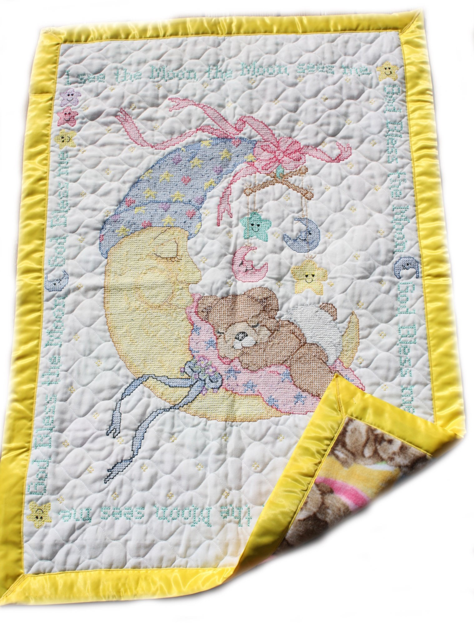 Baby To The Moon 100% Cotton Baby Blanket Swaddle And Milestone Photo Cards Bundle Nursery Bedding