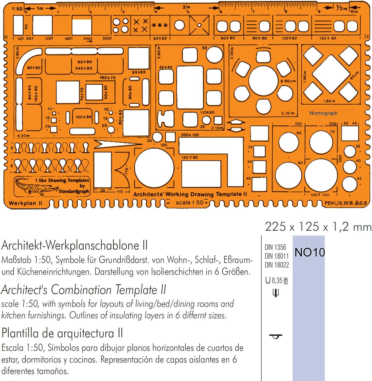 Architekt-Werkplanschablone I