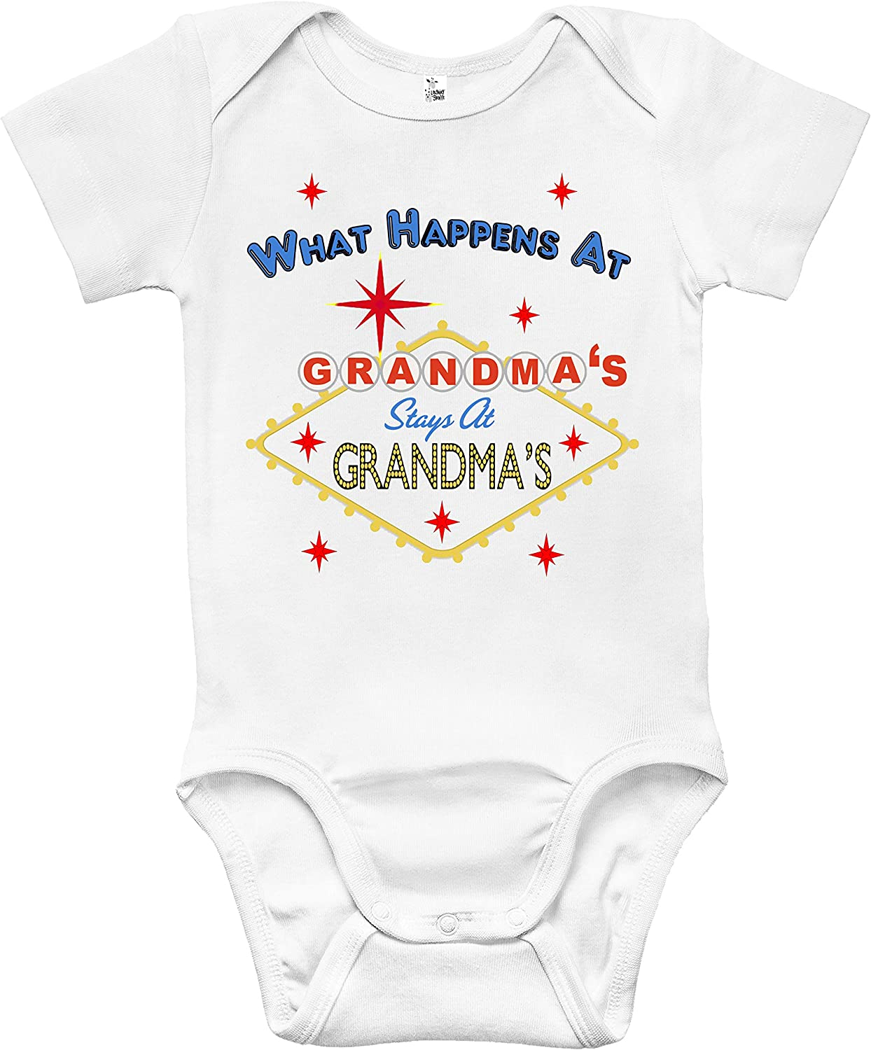Personalised Baby Vest Bodysuit What Happens At Grandma Named Baby Shower Gift