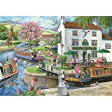 """1000 Piece Jigsaw Puzzle - Find the Differences No.6 – 'By the Canal' - """"New February 2014"""""""