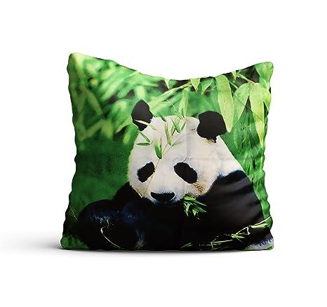 Fundas de almohada 3d dulce oso panda 2 unidades de 40 x 40 cojín funda de almohada decoración 16 pulgadas