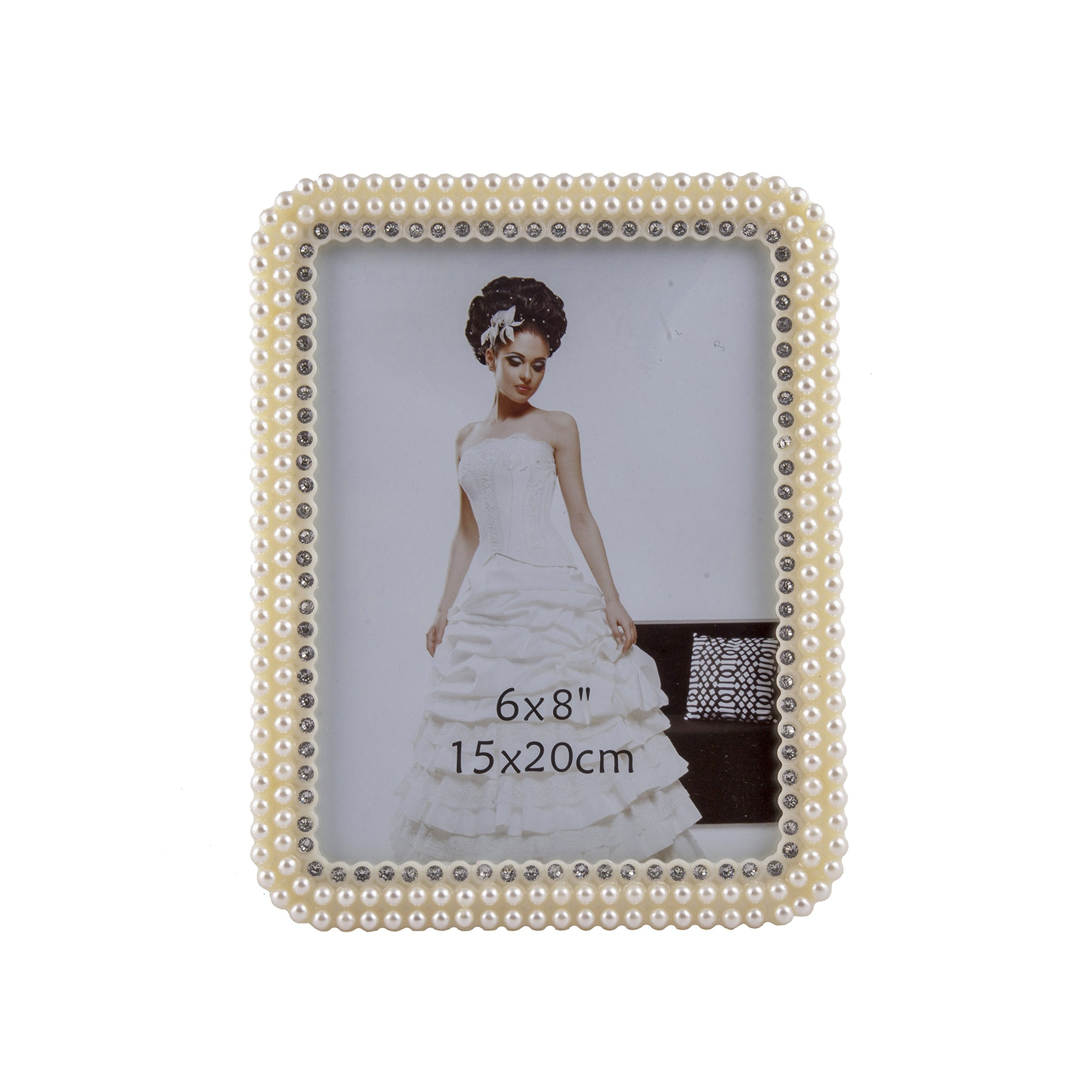 Artistic India 6 X 8 inch Photo Frame Made of High Definition Glass for Table Top Display