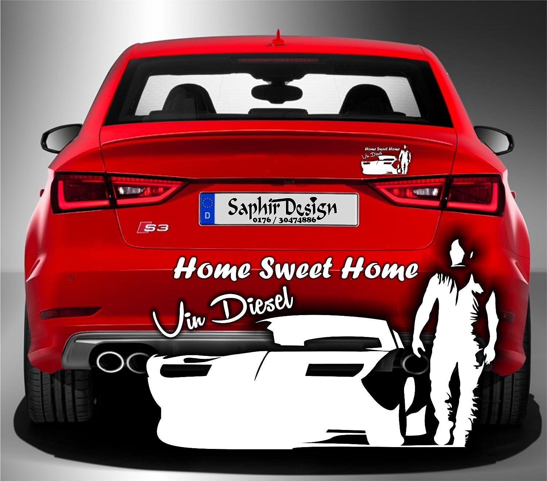 Saphir Design Vin Diesel Schatten Aufkleber Home Sweet Home Tuning 18x 10 5cm Hochleistungsfolie In Weiss Küche Haushalt