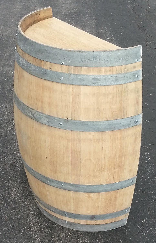 Amazon.com: Real Half Wine Barrel Stand or Planter - Clean Oak ...