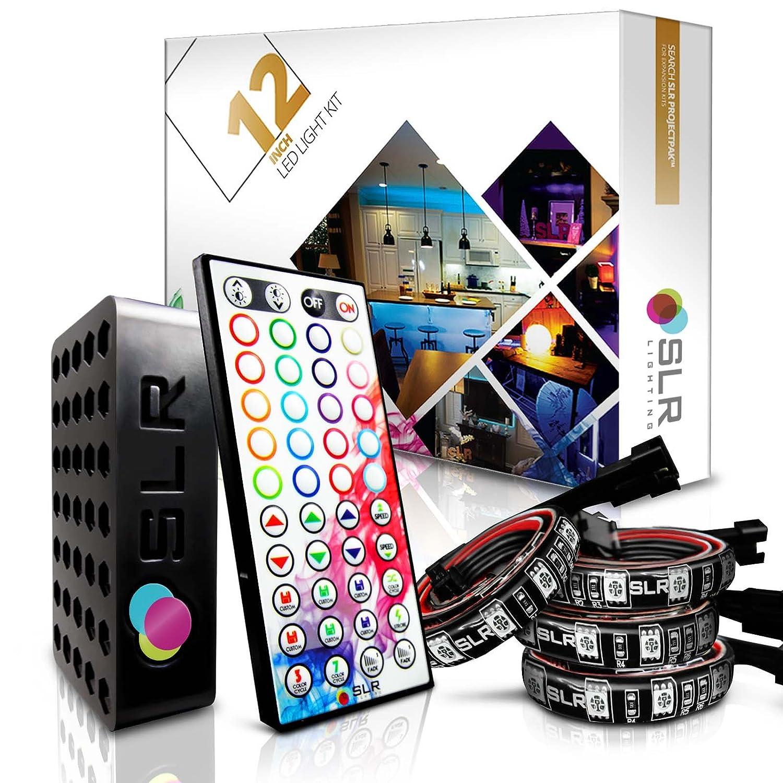 Amazon.com : 4pc Multi-Color RGB LED Strip Kit, 12-inch Pre-Cut ...