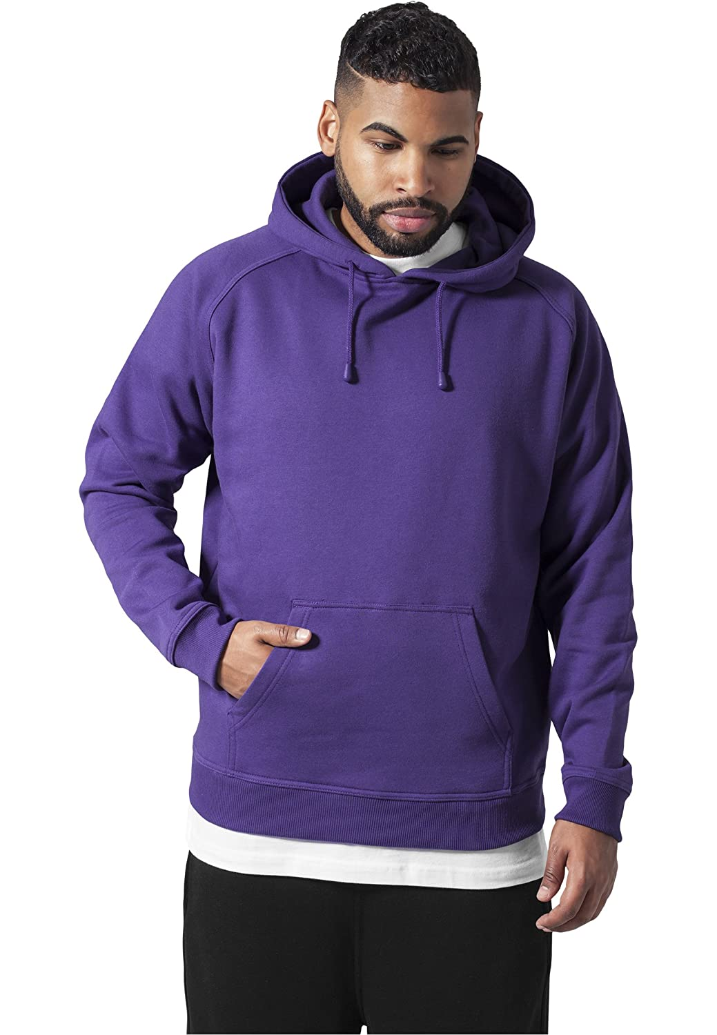 Urban Classic Mens Regular Fit Hooded Long Sleeve Hoodie