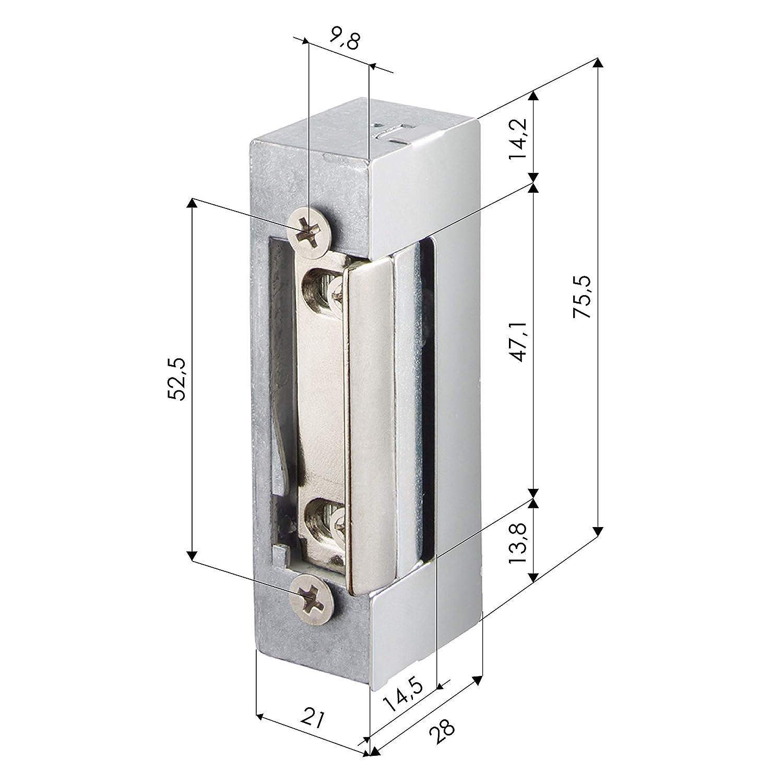 V AC Sistema Autom/ático est/ándar para puertas con Corriente Alterna. Cerradura el/éctrica autom/ática Sim/étrico ZKTeco 4503 Abrepuertas el/éctrico Reversible