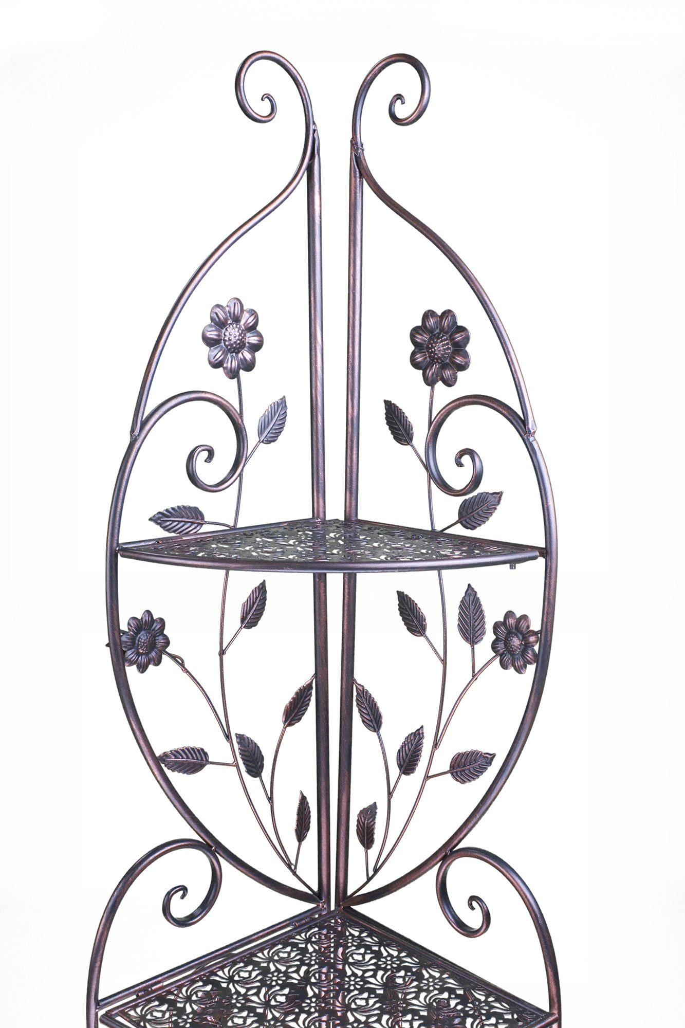 Heather Ann Creations W190795-BC Daisy Kitchen Corner Bakers Rack, Blackened Copper by Heather Ann Creations (Image #5)