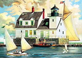 product image for Buffalo Games Rockland Breakwater Light by Charles Wysocki Jigsaw Puzzle (300 Piece), Large