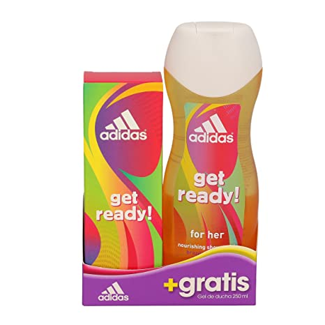 Estuche de colonia adidas get ready 50 ml + gel de ducha 250 ml.